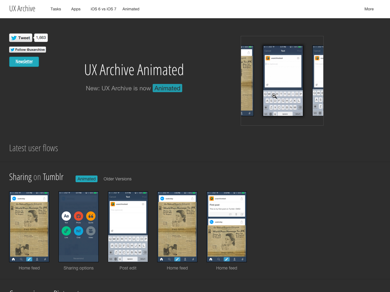 UX Archive Animated